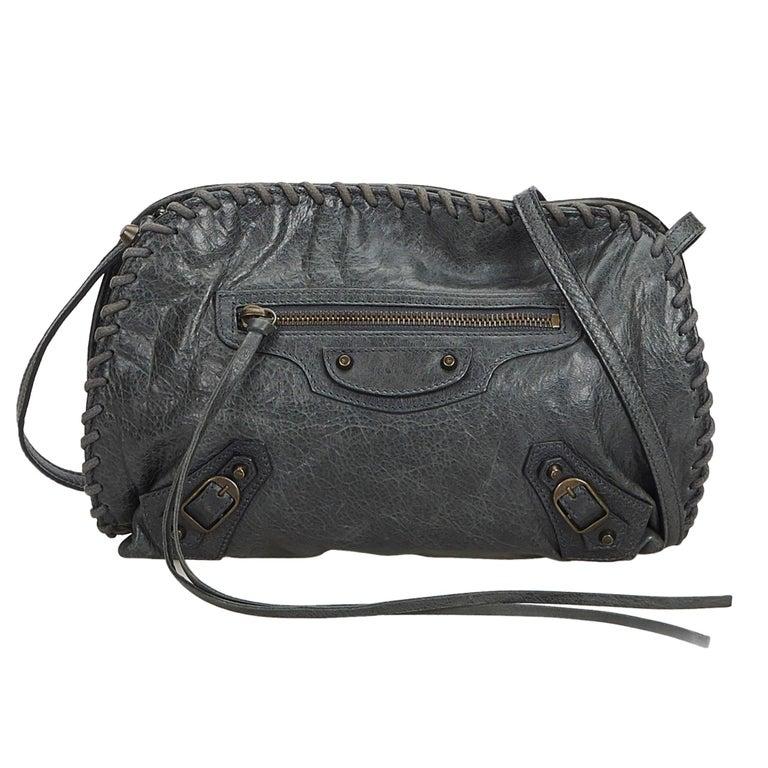 494149d25 Balenciaga Green Dark Green Leather Crossbody Bag France at 1stdibs