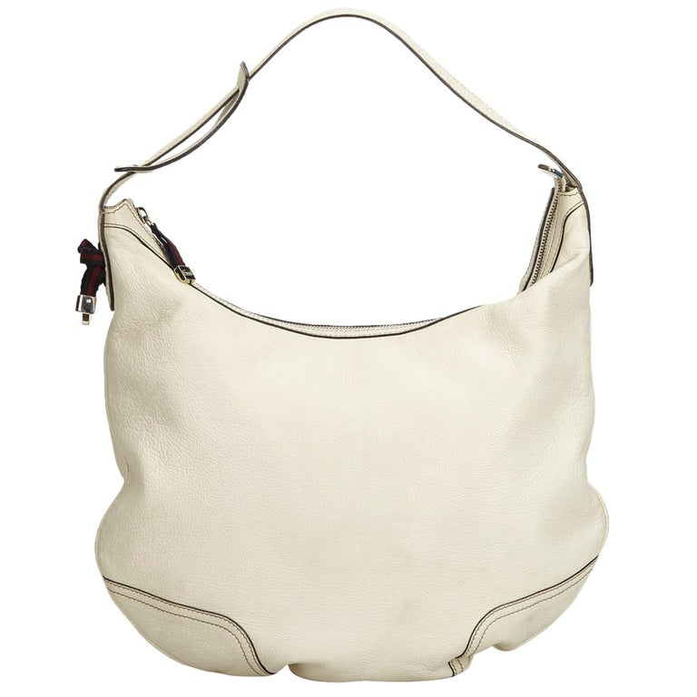a672a6b1a6f3 Gucci White Ivory Leather Princy Hobo Bag Italy For Sale at 1stdibs