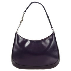 Prada Purple  Leather Shoulder Bag Italy w/ Dust BagAuthenticity Card