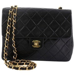 09492cf36aeb Chanel Vintage Square Classic Flap Bag Quilted Lambskin Small
