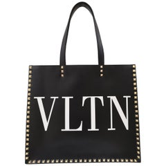 Valentino Garavani Black VLTN Shopping bag