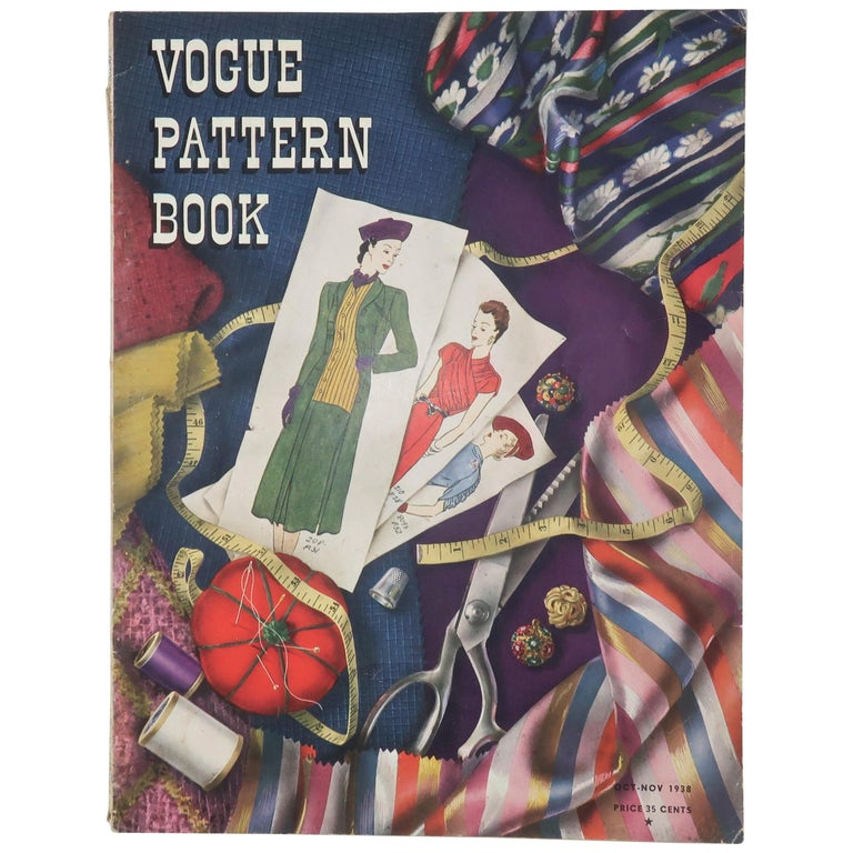 1938 Vogue Pattern Book For Sale