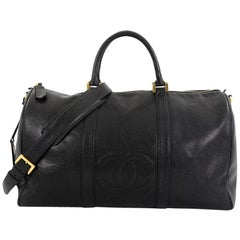 Chanel Vintage Timeless Boston Bag Caviar Large