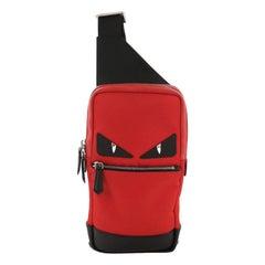 Fendi Monster Sling Bag Nylon and Leather Medium