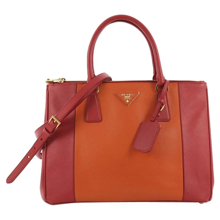 ff51c6b0212d Prada Bicolor Double Zip Lux Tote Saffiano Leather Medium For Sale at  1stdibs