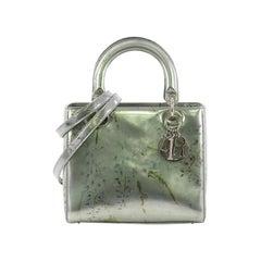 Christian Dior Lady Dior Handbag Printed Leather Medium