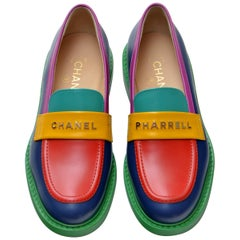 Chanel x Pharrell Capsule Collection  Multicolor Loafers  Size 39.5 Woman NEW