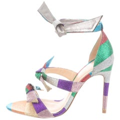 Alexandre Birman NEW Multi Color Rainbow Canvas Evening Sandals Heels in Box