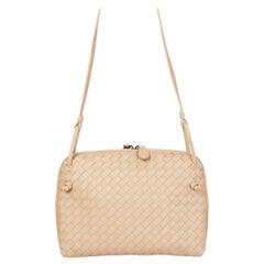 BOTTEGA VENETA beige woven leather INTRECCIATO NODINI Crossbody Shoulder Bag