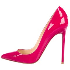 Christian Louboutin NEW Pigalle 120 Pink Patent Evening Heels Pumps in Box