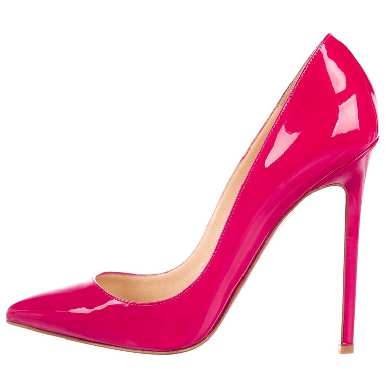 buy cheap ccf55 32d39 Christian Louboutin NEW Pigalle 120 Pink Patent Evening Heels Pumps in Box