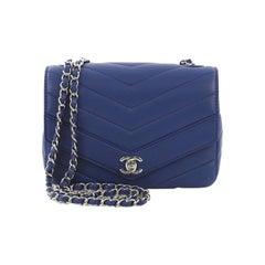 Chanel Data Center Envelope Flap Bag Chevron Caviar Medium