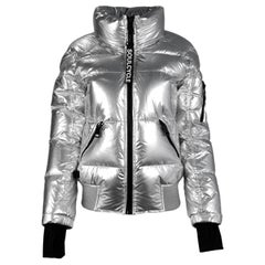 SAM x Soulcycle NWT Matte Silver Freestyle Bomber Jacket sz Large