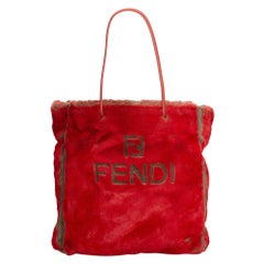 Fendi Red  Other Faux Fur Tote Italy