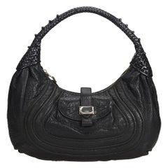 Fendi Black  Leather Spy Italy w/ This item does not come with inclusions.