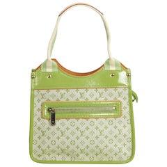 Louis Vuitton Green Cotton Fabric Monogram Mini Lin Sac Kathleen France