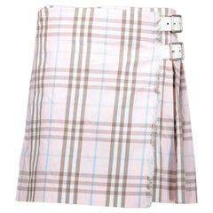 Burberry Pleated Pink Mini Skirt - Size 36