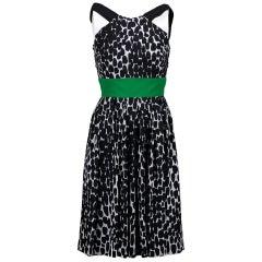 Gucci Geometric Silk Dress - size 38