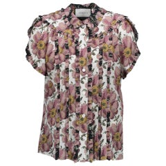 Gucci Short Sleeve Printed Blouse - Size IT40