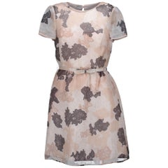 Valentino Beige Floral Dress - size 38