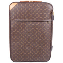 Louis Vuitton Pegase 70 Monogram Suitcase - brown