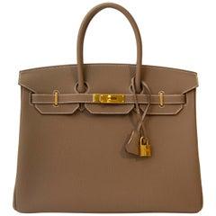 Hermès Birkin 35 Etoupe Togo GHW