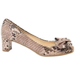 Prada Python Bow Heels - Size 36