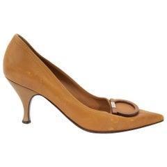 Salvatore Ferragamo Brown Leather Heels - size 36