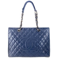 Chanel Blue Caviar GST Grand Shopping Tote