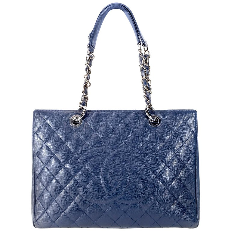 dbc1460d565 Chanel Blue Caviar GST Grand Shopping Tote For Sale at 1stdibs