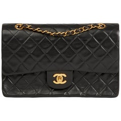 Black Quilted Lambskin Vintage Medium Classic Double Flap Bag