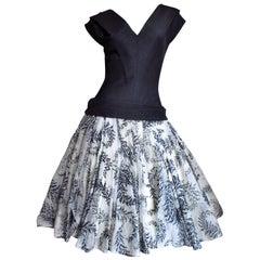1950s Werle Silk Dress