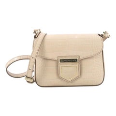 Givenchy Nobile Crossbody Bag Crocodile Embossed Leather Mini