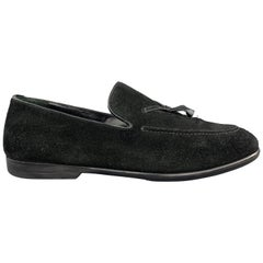 GUCCI Size 8 Black Solid Slip On Loafers