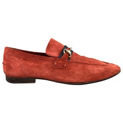 GUCCI Size 9 Brick Solid Slip On Loafers