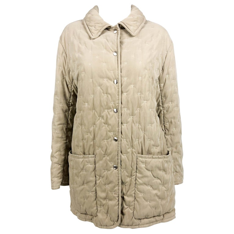 1990 S Hermes Taupe Quilted Jacket For Sale At 1stdibs