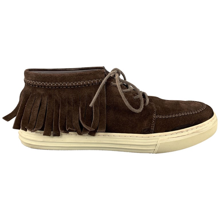 GUCCI Size 8 Brown Solid Boot Sneakers For Sale