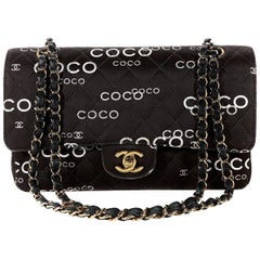 Chanel Brown COCO Printed Medium Double Flap Classic