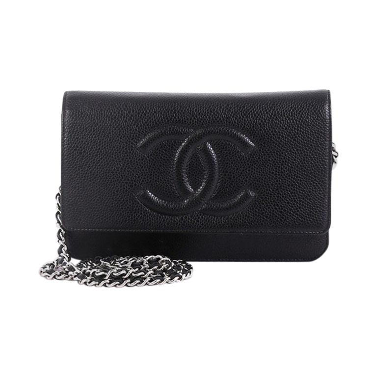 657ad0a02b65 Chanel Timeless Wallet on Chain Caviar For Sale at 1stdibs