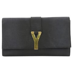 Saint Laurent Chyc Clutch Lizard Embossed Leather