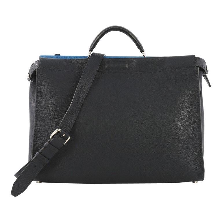 448f1ca914c7 Fendi Selleria Peekaboo Handbag Leather XL For Sale at 1stdibs