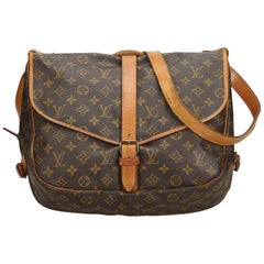 Louis Vuitton Brown Monogram Canvas Canvas Monogram Saumur 35 France