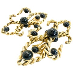 Moschino 1990s Vintage Statement Clip On Earrings