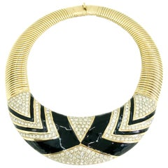 Nina Ricci 1980s Vintage Statement Necklace