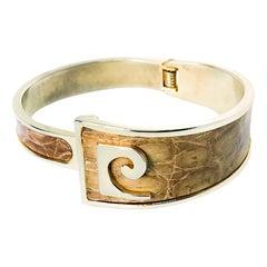 Pierre Cardin 1960s Tan Leather Bracelet