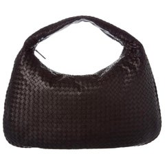 Bottega Veneta Woven Intrecciato Maxi Hobo 866608 Brown Leather Shoulder Bag