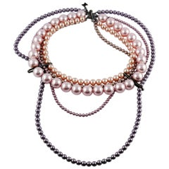 Celine Multistrand Pearl Necklace