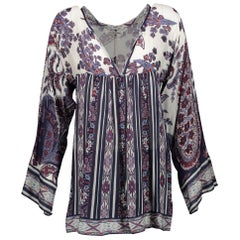 Isabel Marant Étoile Long Sleeve V-neck Blouse - Size 1