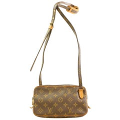 Louis Vuitton Pochette Marly  Bandouliere 866610 Brown  Canvas Cross Body Bag