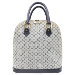 Louis Vuitton Alma Monogram Mini Lin Haut 866632 Beige Coated Canvas Satchel